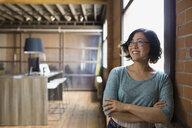 Confident businesswoman looking away - HEROF01682
