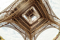 Low angle architectural view of the Eiffel Tower in Paris - INGF10948