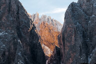Low angle view of mountains and rocks - INGF10960
