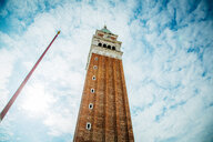 Low angle architectural view of a bell tower in Italy - INGF11056