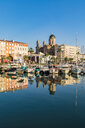 France, Provence-Alpes-Cote d'Azur, Saint-Raphael, harbour, Church San Rafeu - WD04993