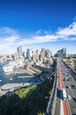Australia, New South Wales, Sydney, View from harbour bridge - RUNF00535