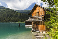 Austria, Lake Weissensee and boat house - AIF00563