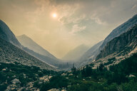 Scenic panoramic view of the mountains during sunset - INGF11315