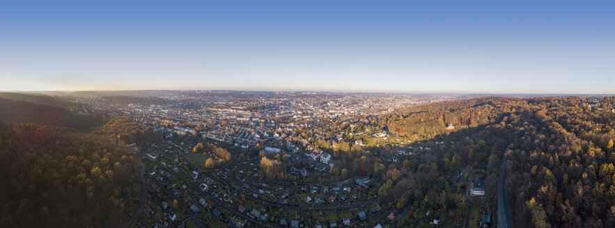 Germany, Wuppertal, Aerial view in autumn - SKAF00102