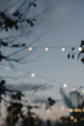 USA, New York, Brooklyn, fairy lights in the evening - LHPF00312