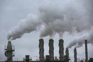 Smoke emitting from smokestacks - HEROF03373