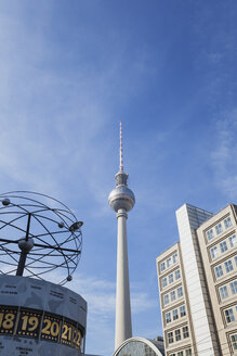 Germany, Berlin, Alexanderplatz, TV Tower and World Clock - GW05724