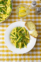Penne with peas and pine nuts, from above - GIOF05273