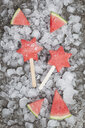 Homemade frozen watermelon star ice lollies - GWF05746