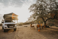 Namibia, friends camping near Spitzkoppe - LHPF00359