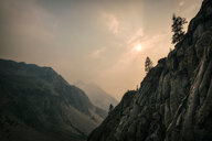 Scenic view of mountains in the sunlight - INGF11460