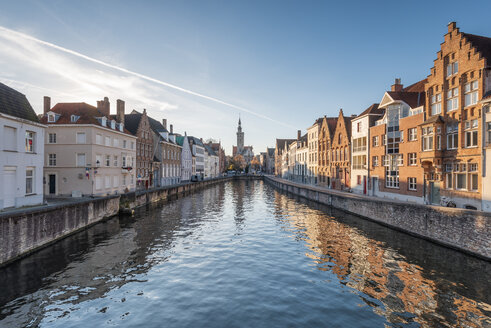 Belgium, Bruges, row of houses at canal - RPSF00256