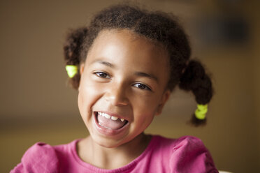 Close-up portrait of cheerful schoolgirl - ASTF00063