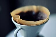 Close-up shot of a coffee cup on a table - INGF11863