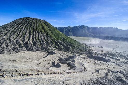 Indonesia, Java, Bromo Tengger Semeru National Park, Mount Bromo crater - RUNF00691