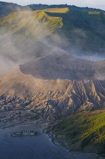Indonesia, Java, Bromo Tengger Semeru National Park, Mount Bromo volcanic crater at sunrise - RUNF00697