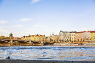 Czechia, Prague, Old town, Vltava river and bridge - JUNF01654