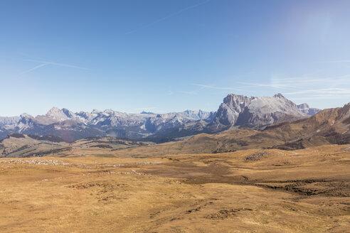 Italy, South Tyrol, Dolomites, Groedner Dolomites with Langkofel group, Langkofel, Plattkofel - MMAF00742