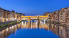Italy, Tuscany, Florence, Ponte Vecchio at blue hour - RPSF00267