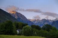 Slovenia, Julian Alps, Triglav mountains, Soca Valley, near Bovec, Mountain Vrh Krnice, hidden house - LBF02319