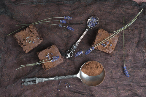 Homemade brownies with lavender - MYF02066