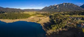 Germany, Bavaria, East Allgaeu, Region Garmisch-Partenkirchen, Kruen, Aerial view of Lake Barmsee and Grubsee - AMF06629