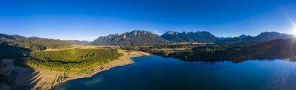 Germany, Bavaria, East Allgaeu, Region Garmisch-Partenkirchen, Kruen, Aerial view of Lake Barmsee and Grubsee - AMF06632