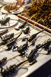 Insects on sale in a Market in Bangkok. Thailand. - MAUF02208