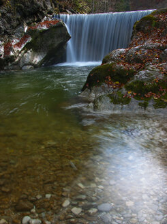 Austria, Tyrol, torrent, waterfall in autumn - WWF04719