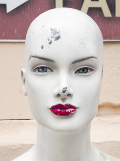 Damaged head of female display dummy - SKAF00132