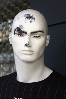 Damaged head of male display dummy - SKAF00135