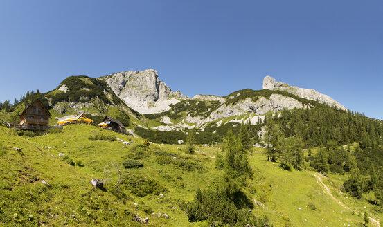 Austria, Styria, Tauplitz, Totes Gebirge, Alpine cabins - WWF04780