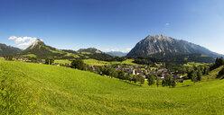 Austria, Styria, Ausseerland, Tauplitz with Grimming - WWF04783