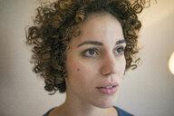 Portrait of serious woman looking sideways - JOSF02770