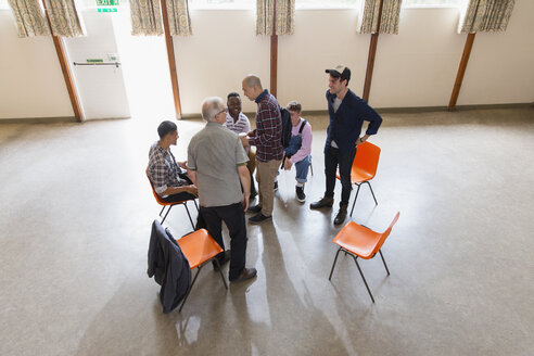 Men talking in group therapy - CAIF22532