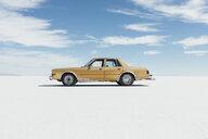 Old Pontiac parked on Salt Flats - MINF10006