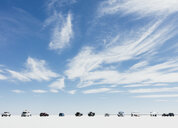 Cars and spectators lined up on Salt Flats during World of Speed week - MINF10012