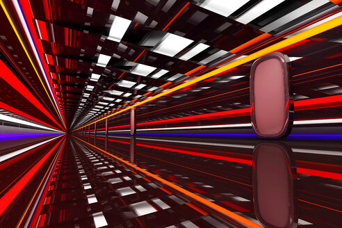 Architecture visualization of a futuristic passageway, 3D Rendering - SPCF00315