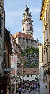 Czechia, Cesky Krumlov, view to Cesky Krumlov Castle - BFR01965