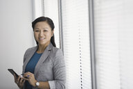 Portrait of confident businesswoman with digital tablet - HEROF04395