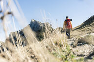 Austria, Tyrol, man hiking in the mountains - UUF16366