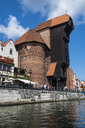 Poland, Gdansk, Crane Gate on the Motlawa river - RUNF00875