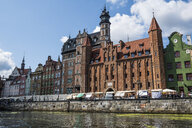Poland, Gdansk, Hanseatic League houses on the Motlawa river - RUN00881