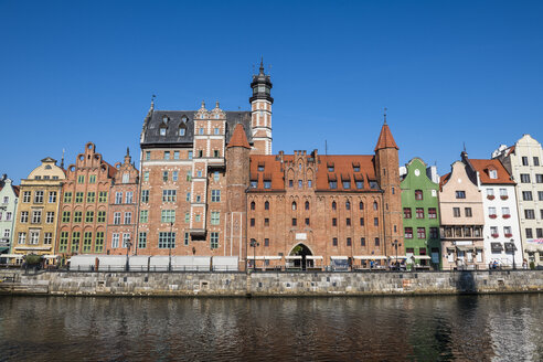 Poland, Gdansk, Hanseatic League houses on the Motlawa river - RUNF00902