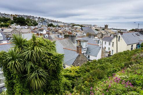 UK, England, Cornwall, Overlook over St Ives - RUNF00926
