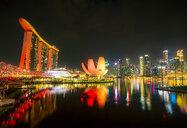 Singapore, Marina Bay Sands Hotel at night - SMAF01181