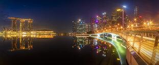 Singapore, Marina Bay Sands Hotel at night - SMAF01184