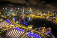 Singapore, cityscape at night - SMAF01208