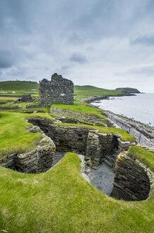 Jarlshof prehistoric archaeological site, Shetland islands, United Kingdom - RUN00972
